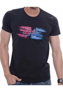 Camiseta Oitavo Ato Paint Masculina - Masculino-Preto