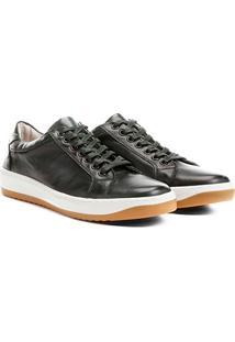 Sapatênis Shoestock Couro - Masculino-Verde Militar