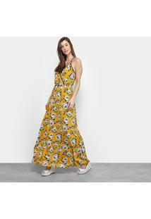 Vestido Longo Triton Floral - Feminino-Estampado