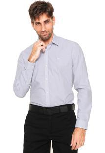Camisa Lacoste Regular Fit Listrada Branca/Preta