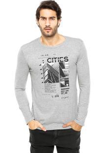 Camiseta Malwee Reta Cinza