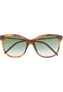 Gucci Eyewear Óculos De Sol Quadrado Gg0654S - Marrom