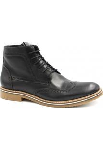 aa8c40a1f0 ... Bota Coturno Zariff Shoes Cadarço Masculina - Masculino-Preto