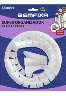 Super Organizador De Cabos & Fios- Branco- Ø2,2X150Cbem Fixa