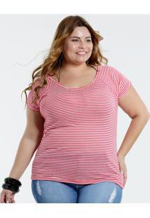 d72962bf9c695e Blusa Feminina Plus Size Listrada Marisa