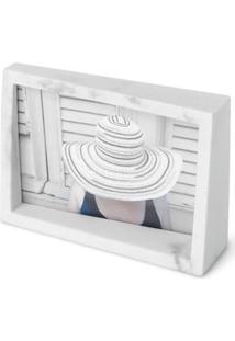Porta Retrato Edge 4X6 Em Resina Branco Umbra