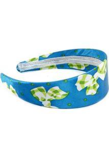 Tiara Desenho De Laço - Feminino-Azul