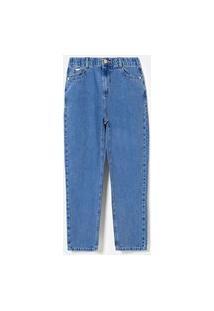 Calça Mom Jeans Com Elástico Na Cintura