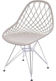 Cadeira Boom Polipropileno Fendi Com Base Cromada - 55934 Sun House