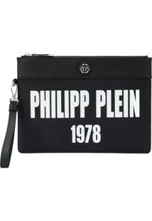 Philipp Plein Bolsa Clutch 'Over' - Preto