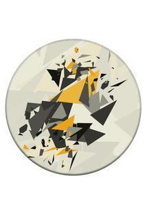 Tapete Love Decor Redondo Wevans Elemento Abstrato Off White 84Cm