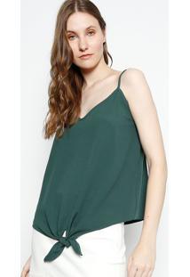 Regata Lisa Com Amarração - Verde Escurocanal