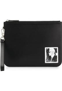 Karl Lagerfeld Clutch Com Estampa - Preto