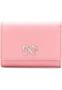 Dolce & Gabbana Carteira Em Couro Com Logo - Rosa