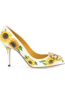 Dolce & Gabbana Scarpin De Girassol - Branco