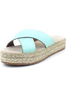 Sandalia Flatform Em X Emporio Naka Corda Azul