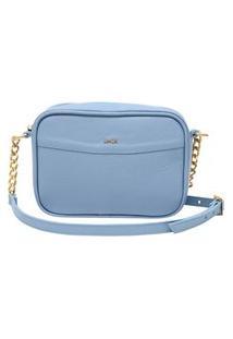 Bolsa Transversal Feminina Em Couro Artlux Candy Colors Azul