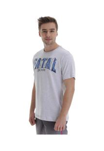 Camiseta Fatal Estampada 20244 - Masculina - Cinza Claro