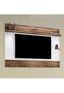 Painel Para Tv Allegra Até 52'' Branco/Canela Rústico - Colibri Móveis