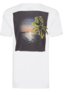 Camiseta Masculina Big Shirt Por Do Sol - Branco