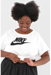 Camiseta Nike Sportswear W Nsw Tee Essntl Branca - Kanui