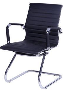 Cadeira Office Eames Esteirinha- Preta- 105X54,5X46,Or Design