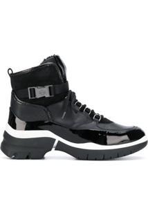 Hogl Ankle Boot Com Fivela - Preto
