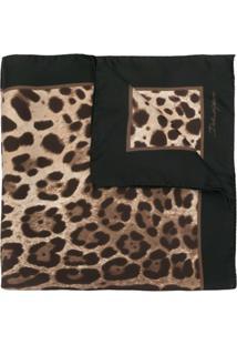 Dolce & Gabbana Echarpe Com Estampa De Leopardo - Preto