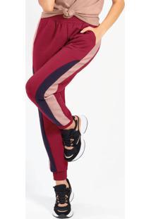 Calça Feminina Em Molecotton Com Bolso Vermelho