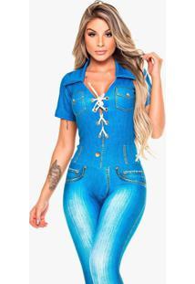 Macacão Digital Jeans