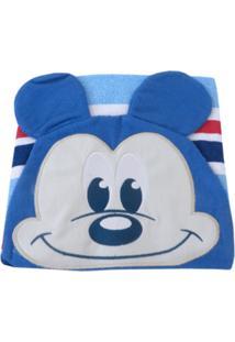 Toalha De Banho Minasrey Mickey Carinhas Azul