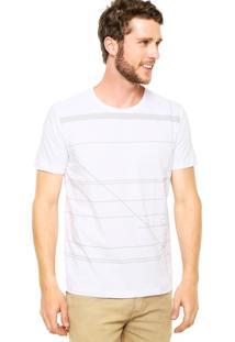 Camiseta Calvin Klein Jeans Manga Curta Estampa Branca