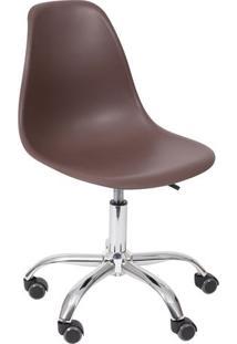 Cadeira Eames Dkr- Cafã© & Prateada- 93X47X41Cm- Or Design