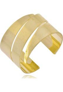 Bracelete Rincawesky Wave Três Cortes Dourado - Kanui