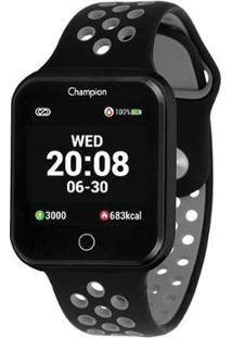 Relógio Champion Smartwatch Ch50006 - Unissex-Preto+Cinza