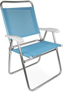 Cadeira Master Plus Fashion Alumínio - Unissex-Azul