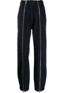Katharine Hamnett London Calça Jeans Cintura Alta Com Zíper - Azul