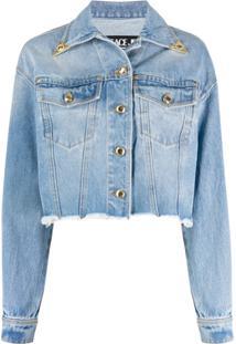 Versace Jeans Couture Jaqueta Jeans - Azul