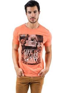 Camiseta Aes 1975 Sk8 Lifestyle Masculina - Masculino-Laranja