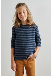 Camiseta Infantil Pf Reserva Mini Ml Dupla Face Navy Masculina - Masculino