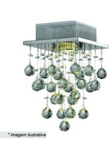 Plafon Tyrell - Cristal & Prateado - 30X18X18Cm Hevvy