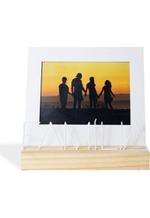 Porta Retrato 13X18 Família Branco