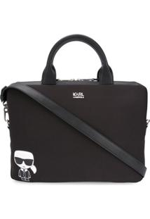Karl Lagerfeld Bolsa Para Notebook Ikonic - Preto
