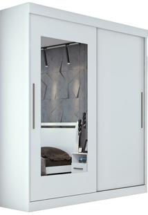 Guarda Roupa Montebello 2 Portas Com Espelho Branco