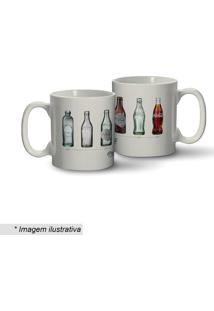 Caneca Coca-Cola® Bottles Evolution- Branca & Cinza-Urban
