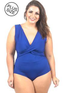 Body Inovare Modas Regata Azul Plus Size