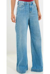 Calça Bobô Paloma Jeans Azul Feminina (Jeans Claro, 38)