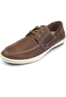 Sapato Side Walk Docksider Mocflex Caramelo