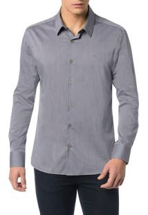 Camisa Calvin Klein Slim Geneva Chumbo - 1