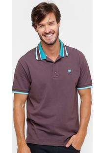 Camisa Polo Cavalera Básica Listras Masculina - Masculino